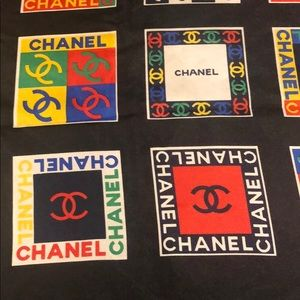 CHANEL Accessories - Large CHANEL Scarf 100% silk